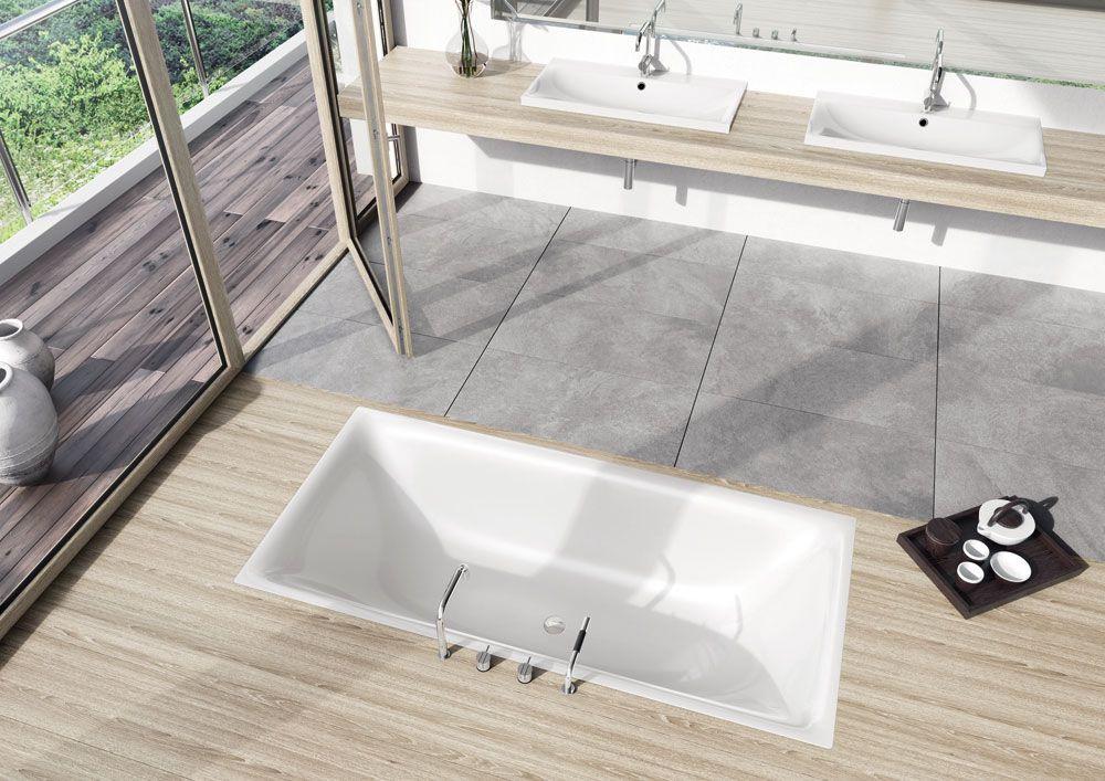 Vasca Da Incasso Kaldewei : Kaldewei vasca da incasso silenio con bordo dallo spessore di soli