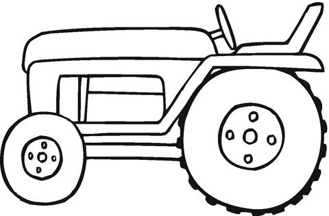 Small Tractor Coloring Page Tractor Coloring Pages Farm