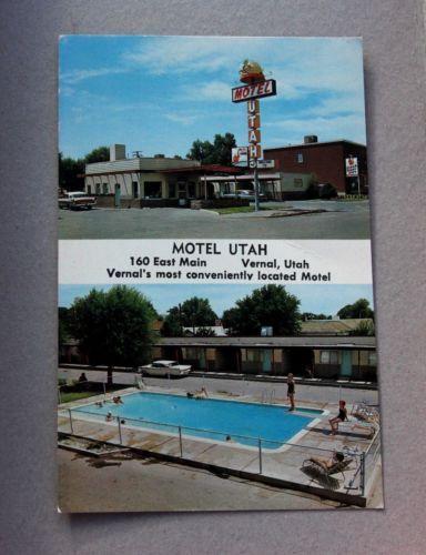 Vintage Postcard Motel Utah Vernal