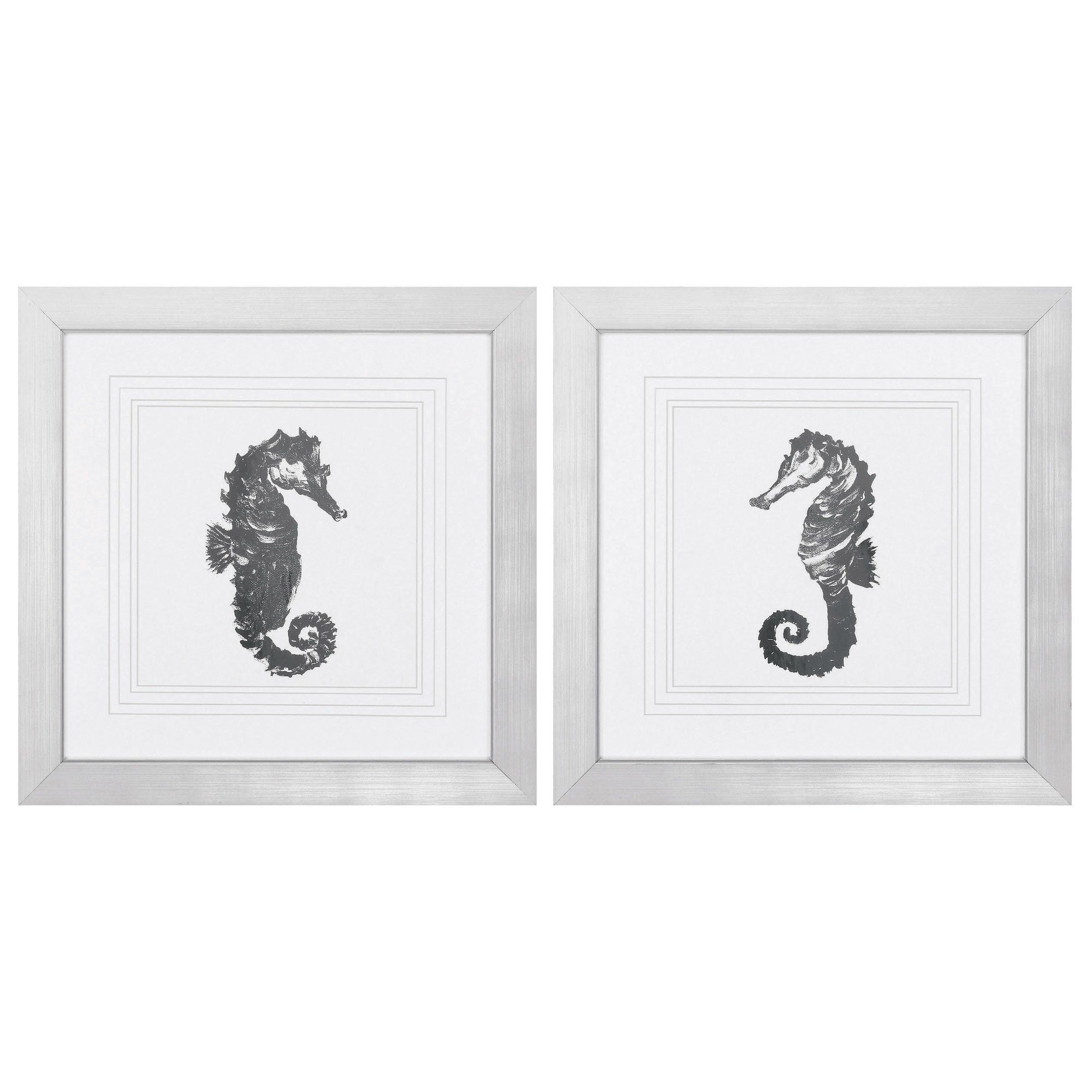 Sea horse piece framed graphic art set products pinterest