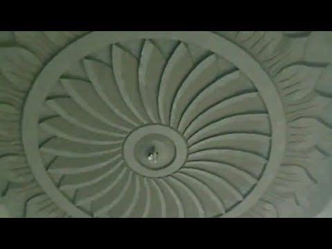 Cement flower ceiling design! amazing hand made working ...