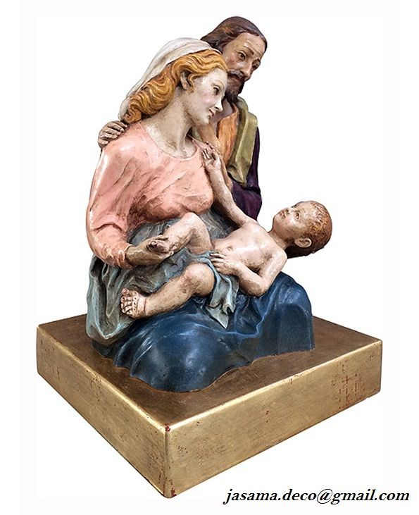 Nacimiento Segovia 2015, bulto redondo policromado en alabastro