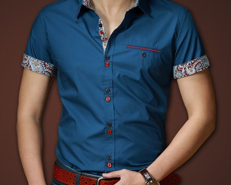2015 De Primavera Y Verano Hombres Camiseta De Manga Corta 100 Algodon Delgado Collar De La Mens Shirts Men S Button Down Shirt Shirts