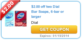 photo regarding Olay Printable Coupons known as $2.00 off 2 Dial Bar Soaps, 6-bar or bigger My favourite