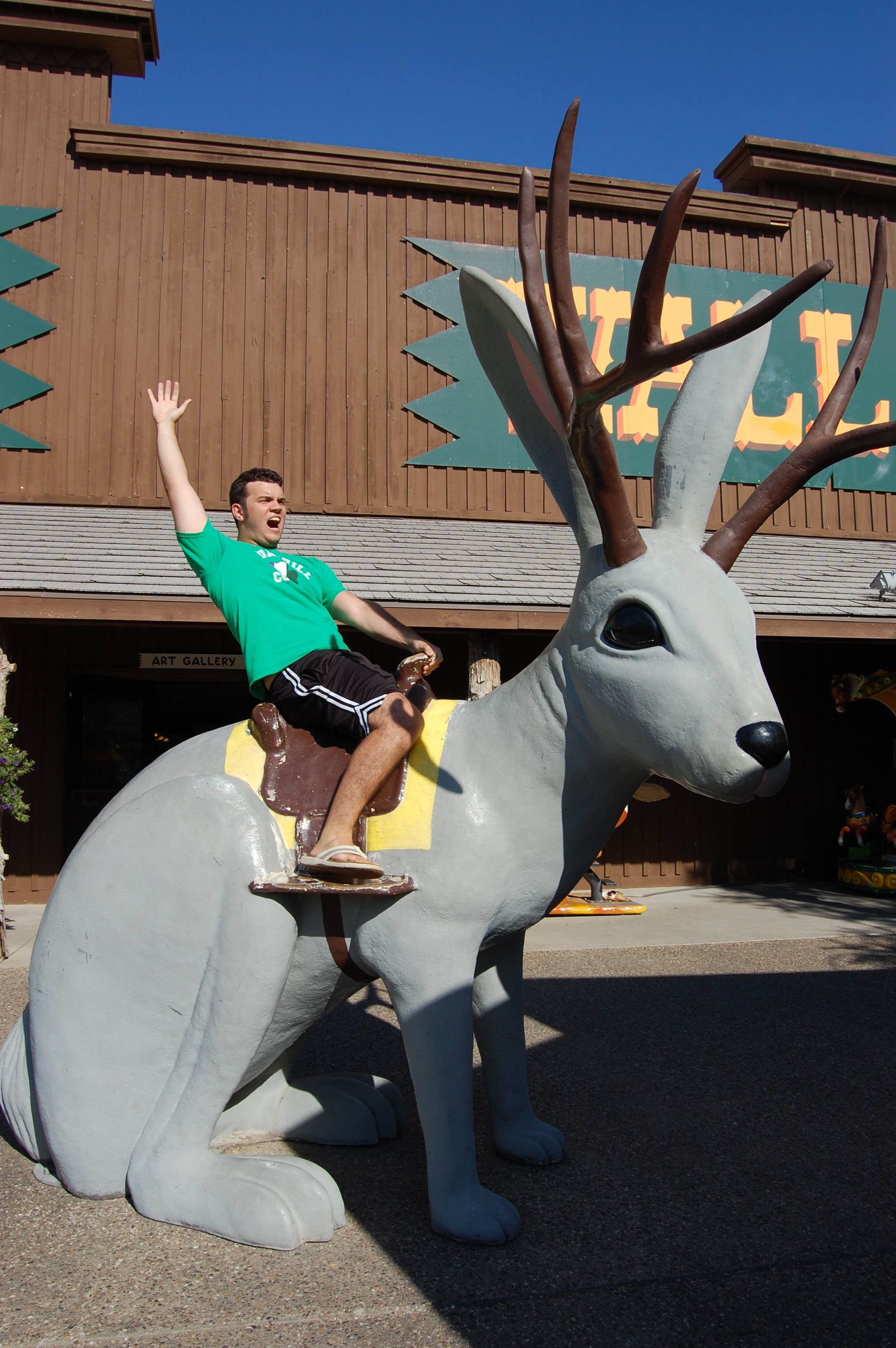 dan rides the jackolope a wall drug wall drug south on wall drug south dakota id=21227