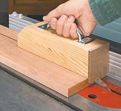 Heavy Duty Push Block The Thick Body Of Is Glued Up From Two Pieces S At Back I Ed A ¼ Hardboard Heel To Catch End