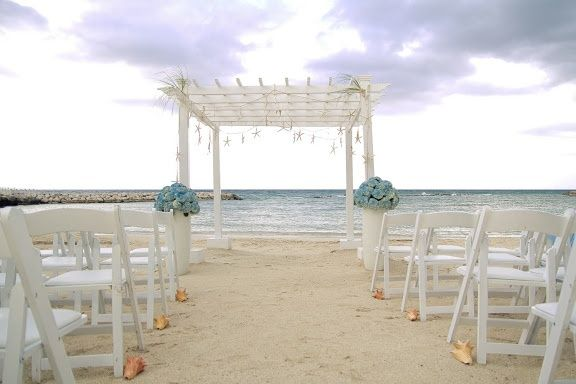 Beach Pergola Wedding Grand Palladium Lady Hamilton Lucea Jamaica