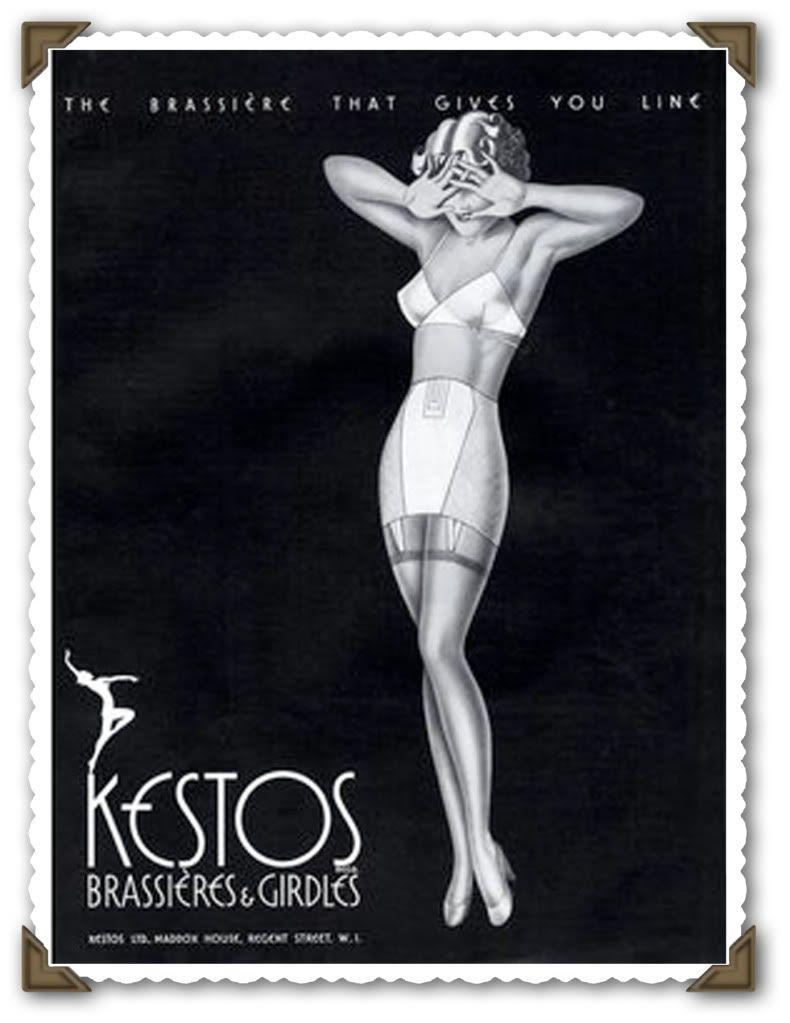 51694124c93c8 1930s Kestos bra ad | sweet nothings in 2019 | Vintage lingerie ...