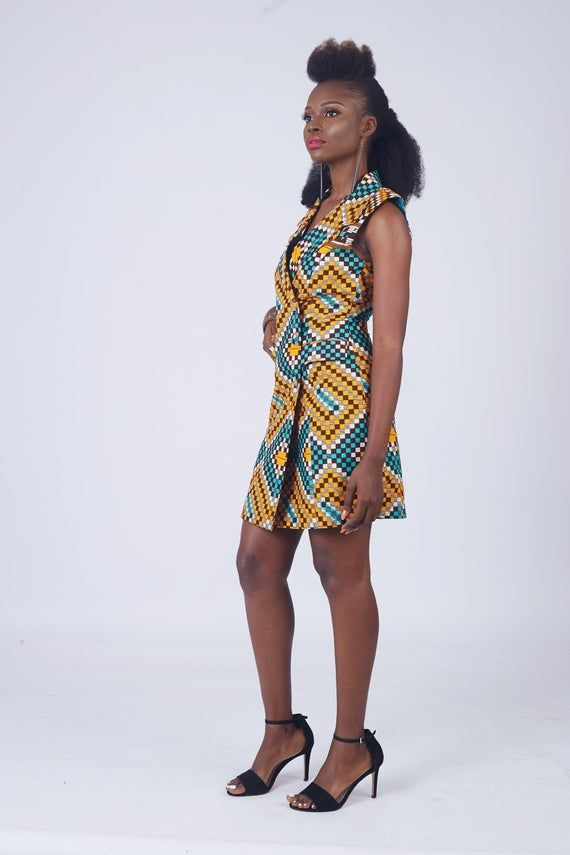 African Dress, African Clothing, African Print Dress, African Print Clothing, African Print Mini Bla #africanprintdresses