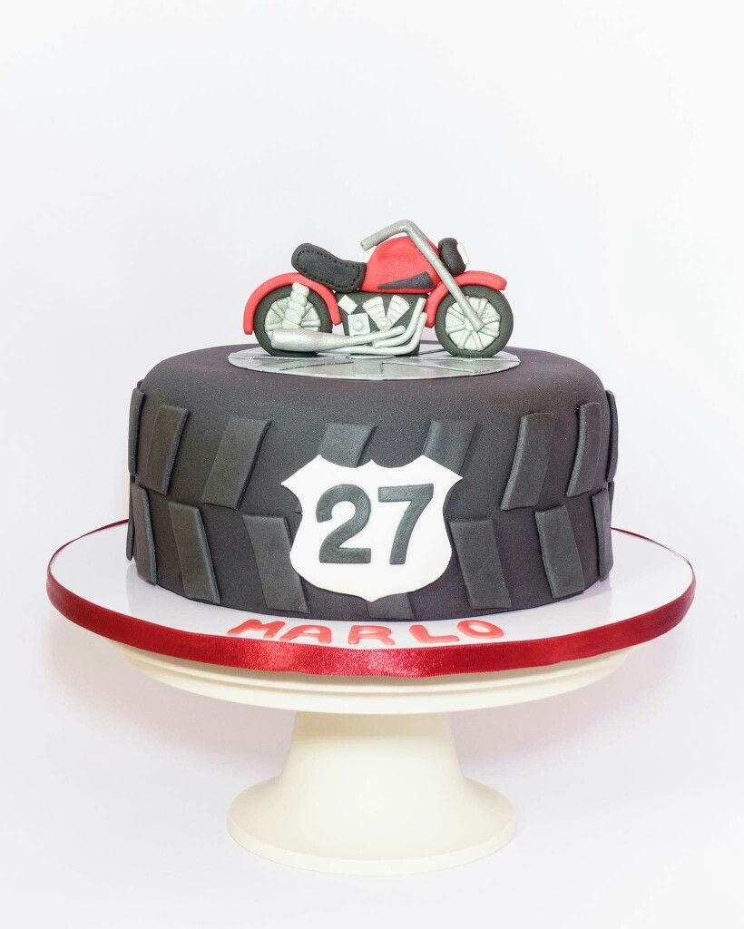 Motorcycle Birthday Cake 30th Party Theme Pinte