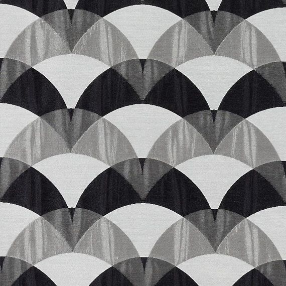 Contemporary Black White Pillows Heavyweight Checked Fabric for Furniture Black White Plaid Upholstery Fabric for Furniture