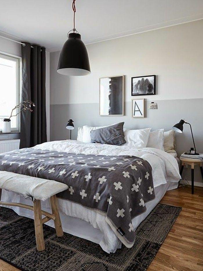 Schlafzimmer Wandfarbe Ideen in 140 Fotos! | Pinterest | Wandfarbe ...