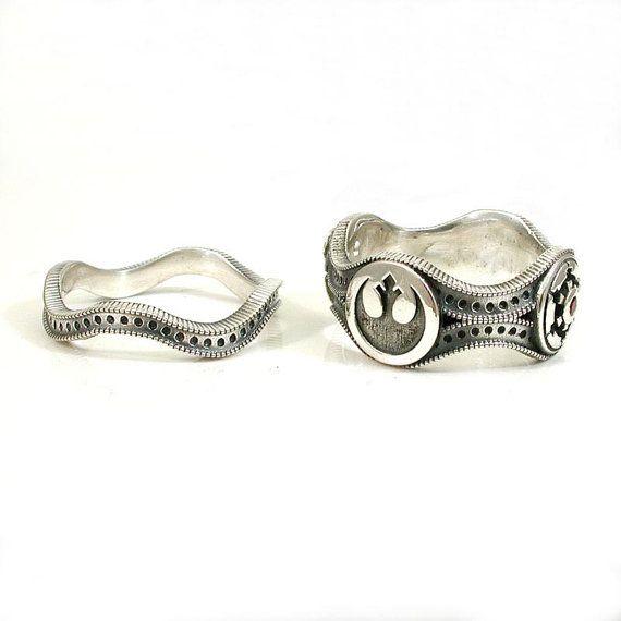 Star Wars Wedding Ring Set - Engagement Wedding Ring ...