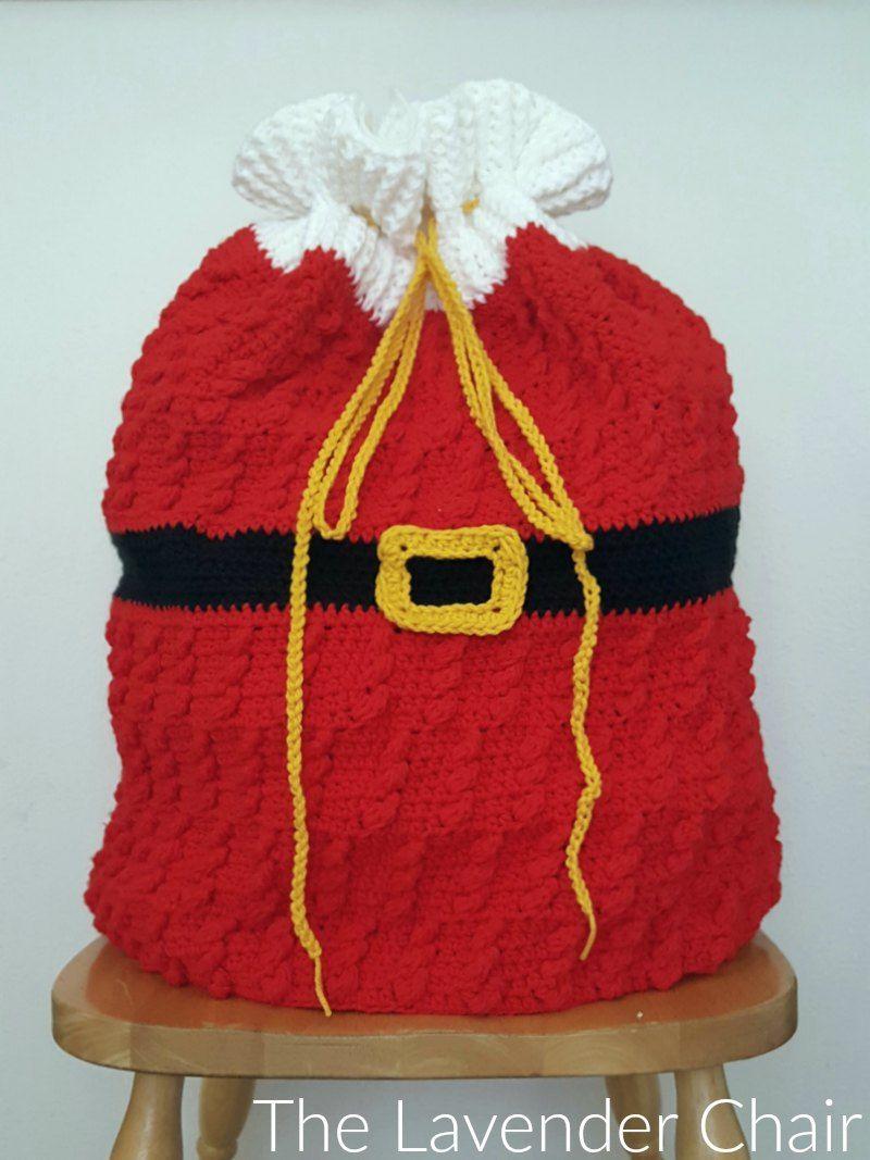 Standing Cables Santa Sack Crochet Pattern | crochet~ needlecraft ...