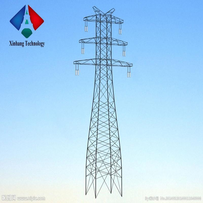 Double Circuit 69kv 33kv Price Tower Steel Tarpered Pole For 400kv