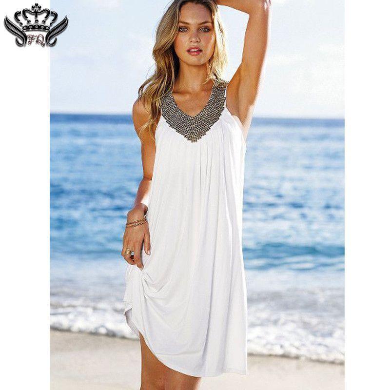 68f78b1c09ae Hot Sexy Women Summer Spring Autumn Holiday Boho Long Knee-Length Sleeveless  Casual Maxi Beach Dress Evening Party Dresses 2016