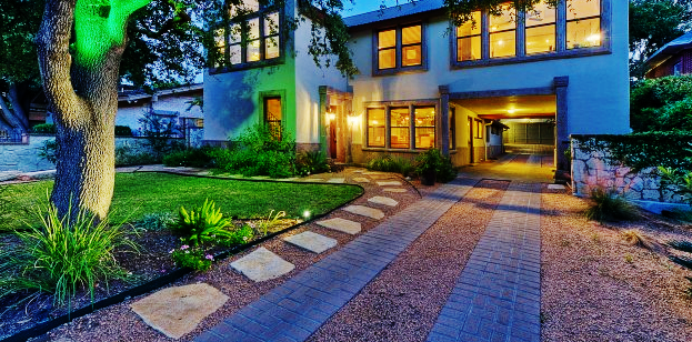 modern gravel driveway idea brick