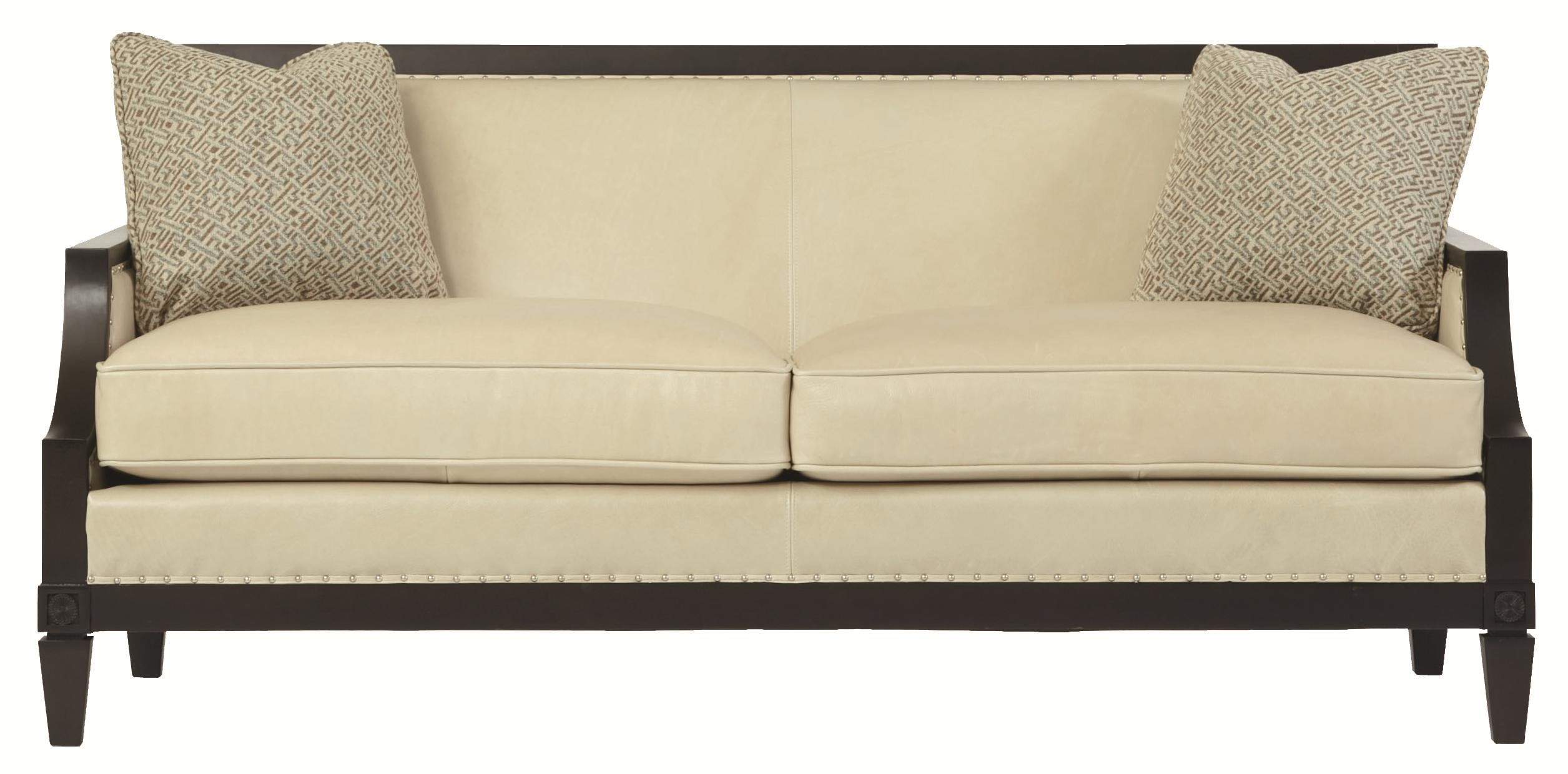 Bernhardt Sofas Clearance Piel Madrid Ofertas Interiors Morris Sofa With Decorative Nail Head Trim By
