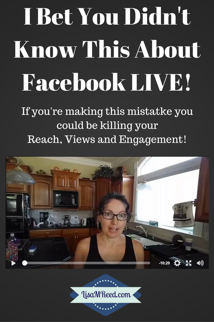 If you're making this mistake you're killing your Reach, Views and Engagement on Facebook LIVE