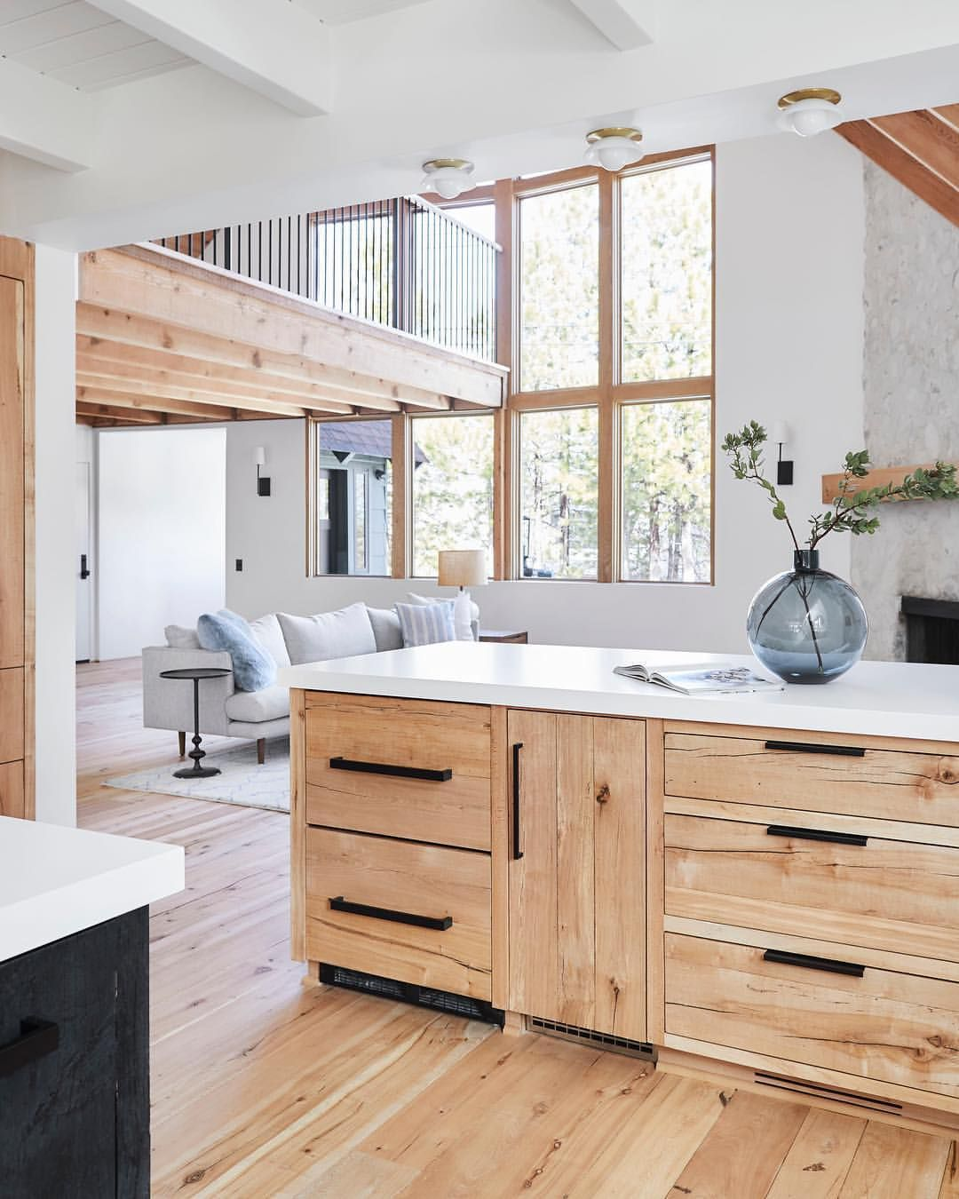 Stunning Mountain House Kitchen Renovation With Reclaimed Wood Cabinets Flooring Swipe Through The Photos Schoolhouse Home Kitchens Home Kitchen Renovation