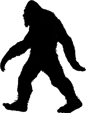 silhouette bigfoot google search silhouettes filigrane camio and rh pinterest ie  free clipart of bigfoot