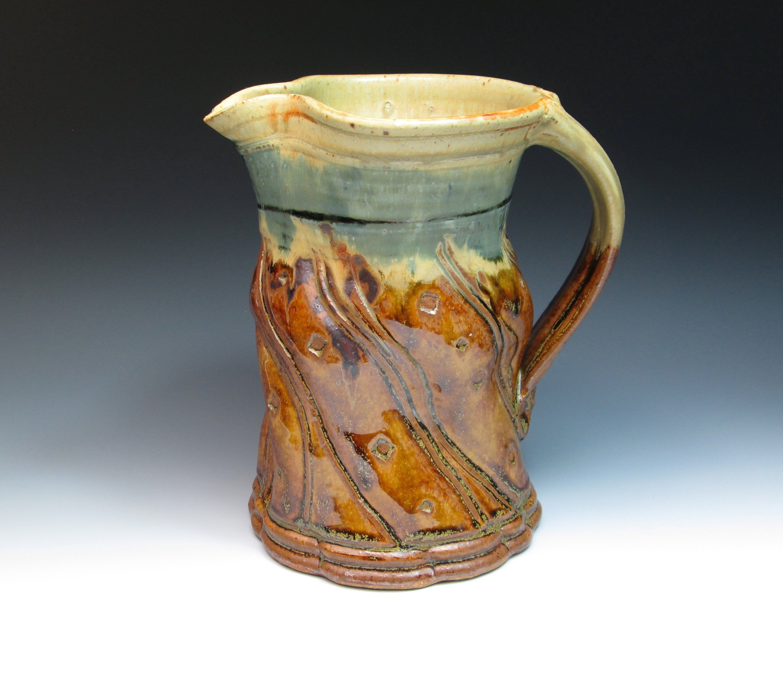 John Glick Plum Tree Pottery Stoneware Jug Or Pitcher Hand Etsy Collectible Pottery Pottery Jug Pottery