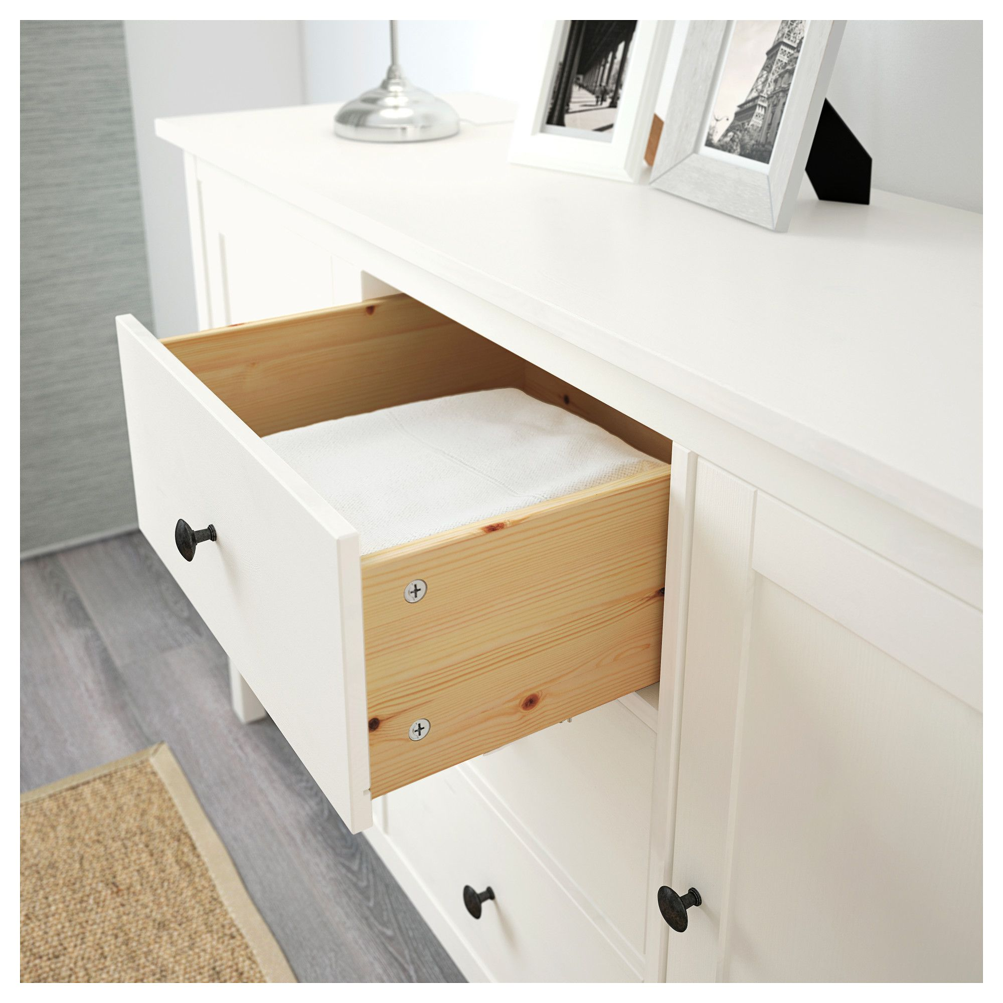 hemnes sideboard, white stain   products   pinterest   ikea