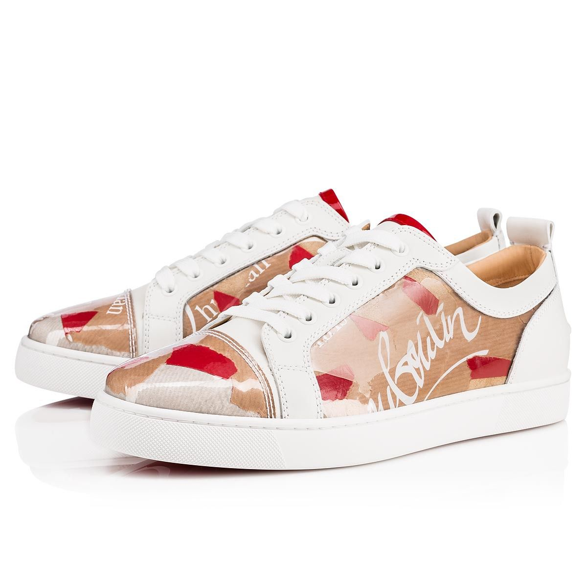 2e89a5085f1 Christian Louboutin s Louis Junior low-top sneakers are elegantly  comfortable. Get a behind the