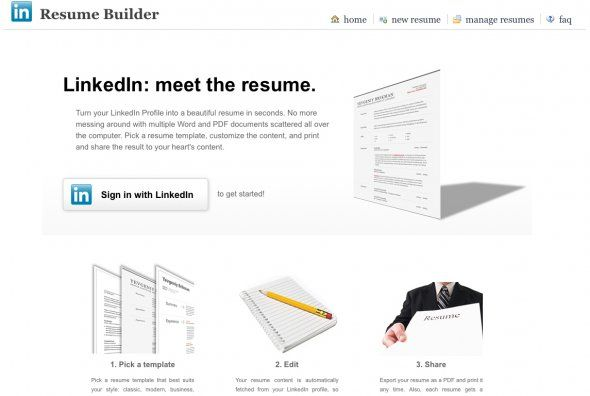 Building Your Resume Via Linkedin Job Resume Template Job Resume Format Free Resume Builder