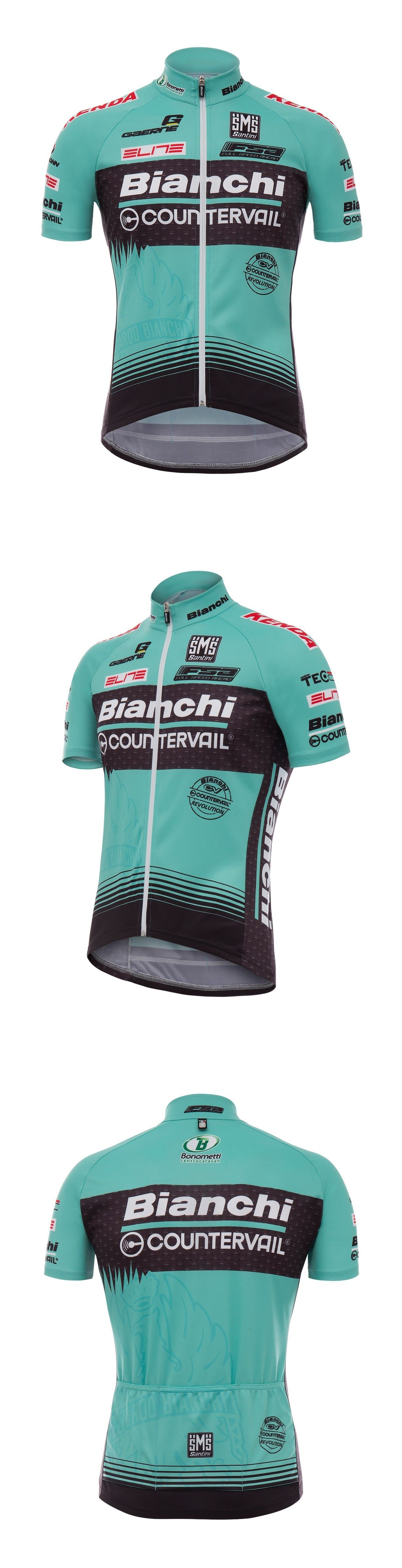 Jerseys 56183  2017 Bianchi Mtb Team Classic Fit Cycling Jersey Made In  Italy By Santini 593a7e05a
