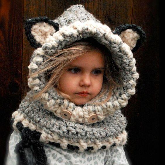 Crochet Hooded Scarf Set | für Kinder, Kind und Ideen