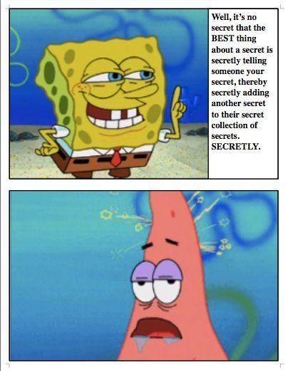 Spongebob Secret : spongebob, secret, Secrets., Laugh, Laugh,, Spongebob