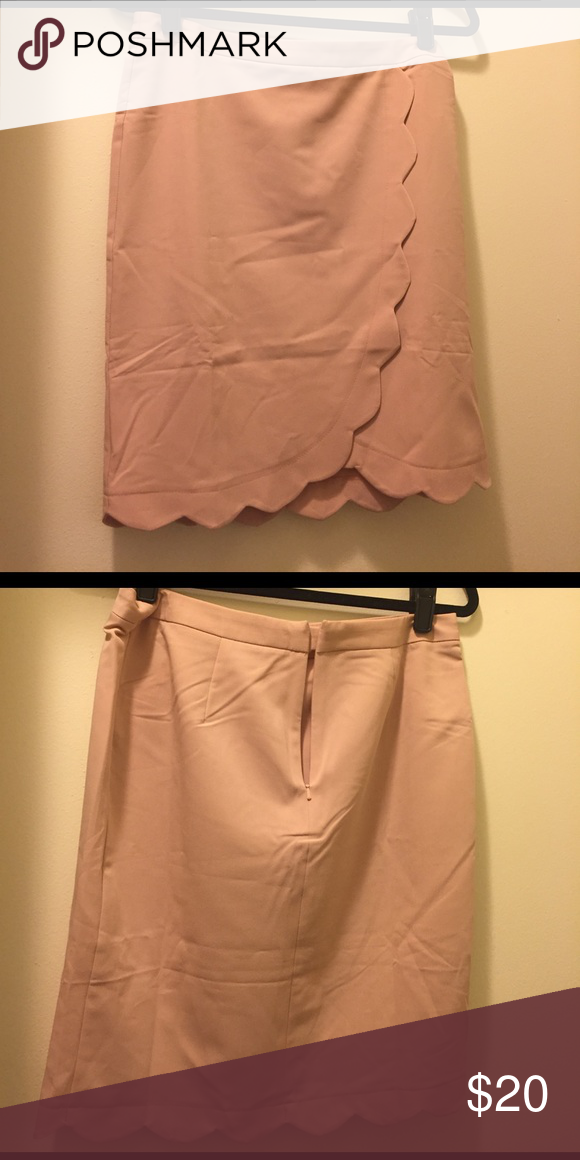 Asos blush scallop skirt Wrap front scallop skirt ASOS Skirts