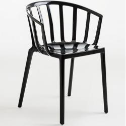Photo of Kartell stacking chair Venice black, designer Philippe Starck, 75x51x51 cm KartellKartell