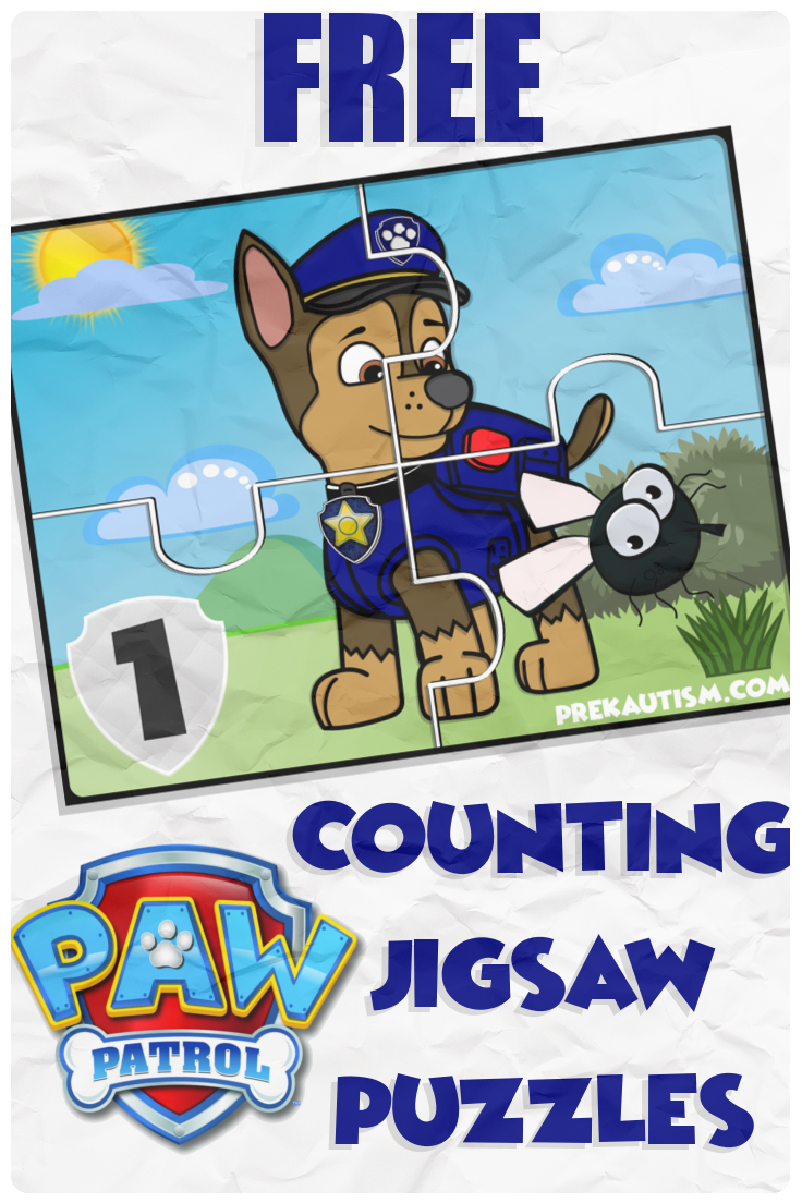 Free Paw Patrol Counting Jigsaw Puzzle Autism Activities Paw Patrol After School Program [ 1104 x 736 Pixel ]