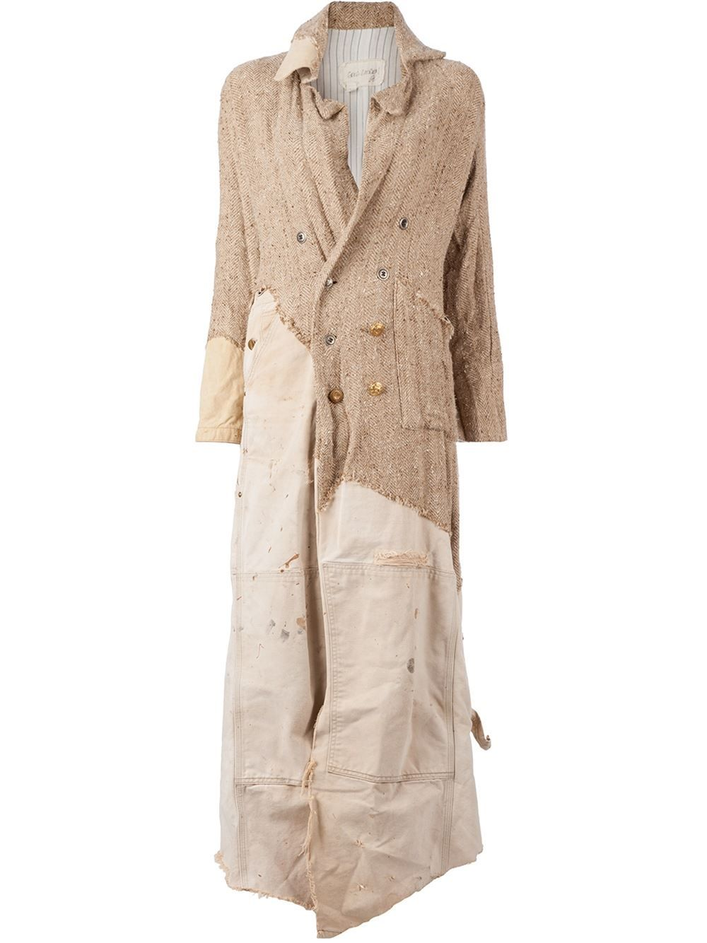 Greg Lauren Asymmetric Panelled Coat - L\'eclaireur - Farfetch.com ...