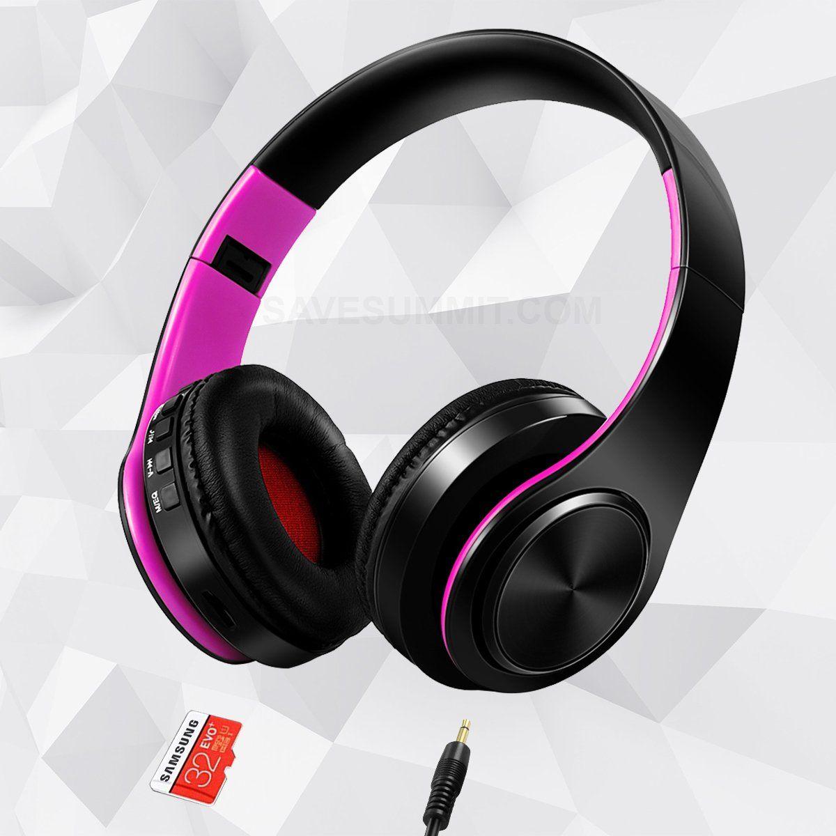 Wireless Bluetooth Headphones On Ear MP3 Player, Black