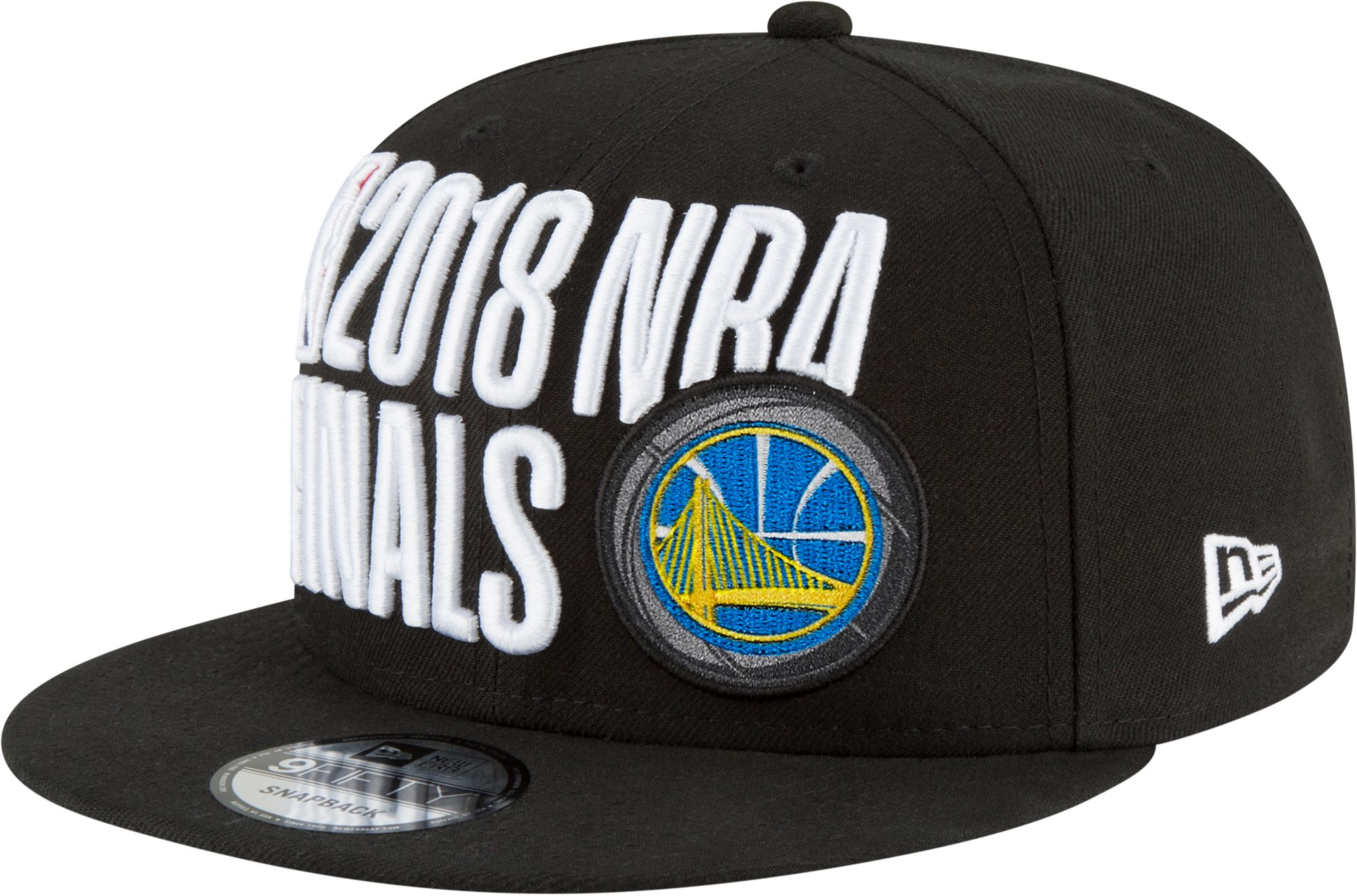 big sale b9b84 0d4dc New Era Men s 2018 NBA Finals Golden State Warriors 9Fifty Locker Room  Adjustable Snapback Hat, Black