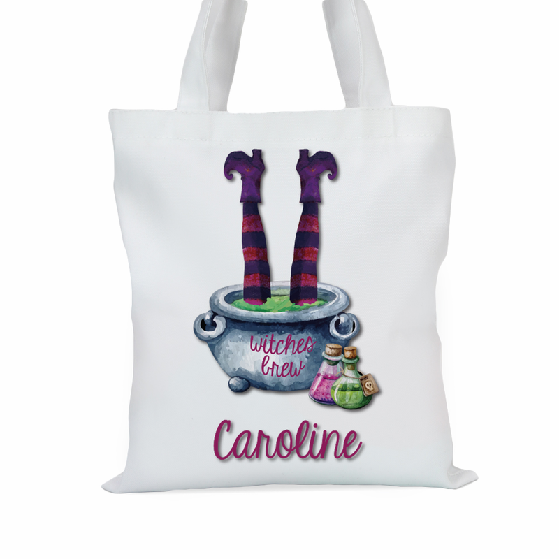 Witches Brew Personalized Kids Large Trick or Treat Tote