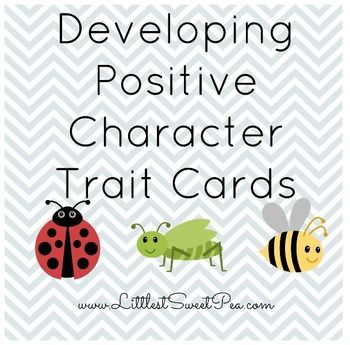 Free Developing Positive Character Trait Cards ~ http\/\/www - positive character traits