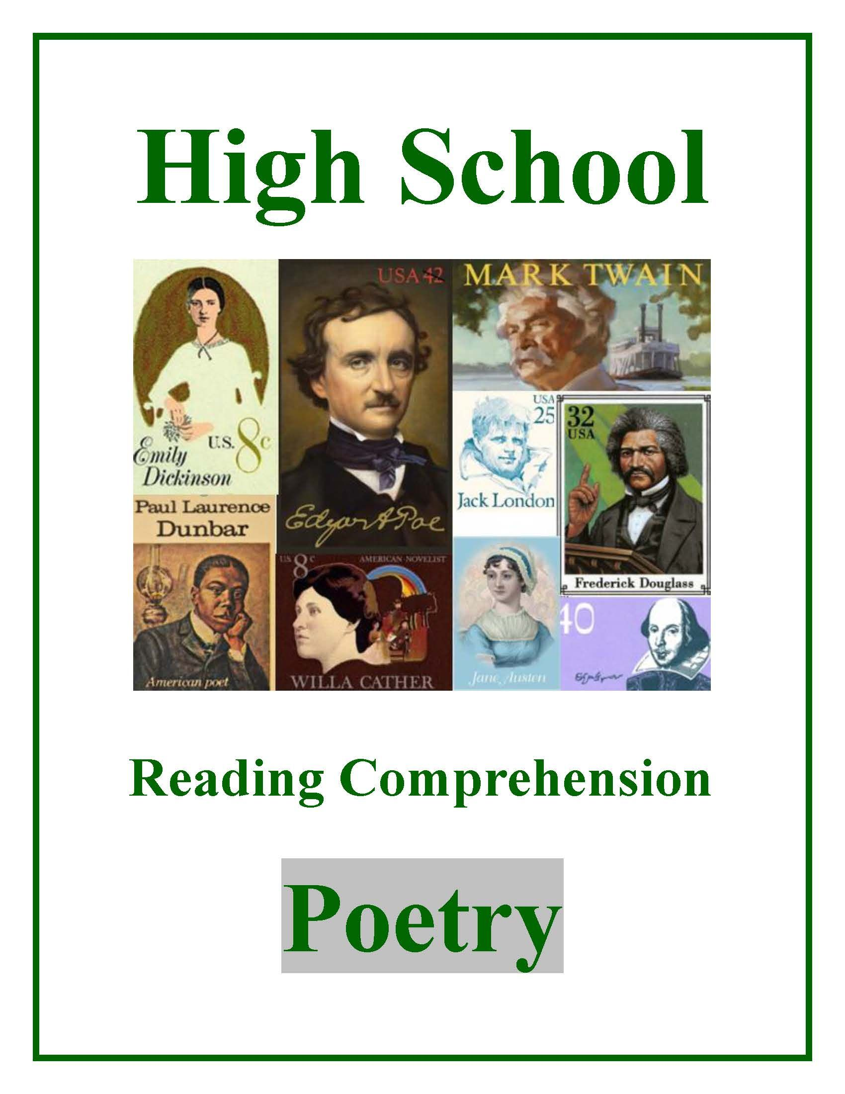 High School Reading Comprehension Poetry