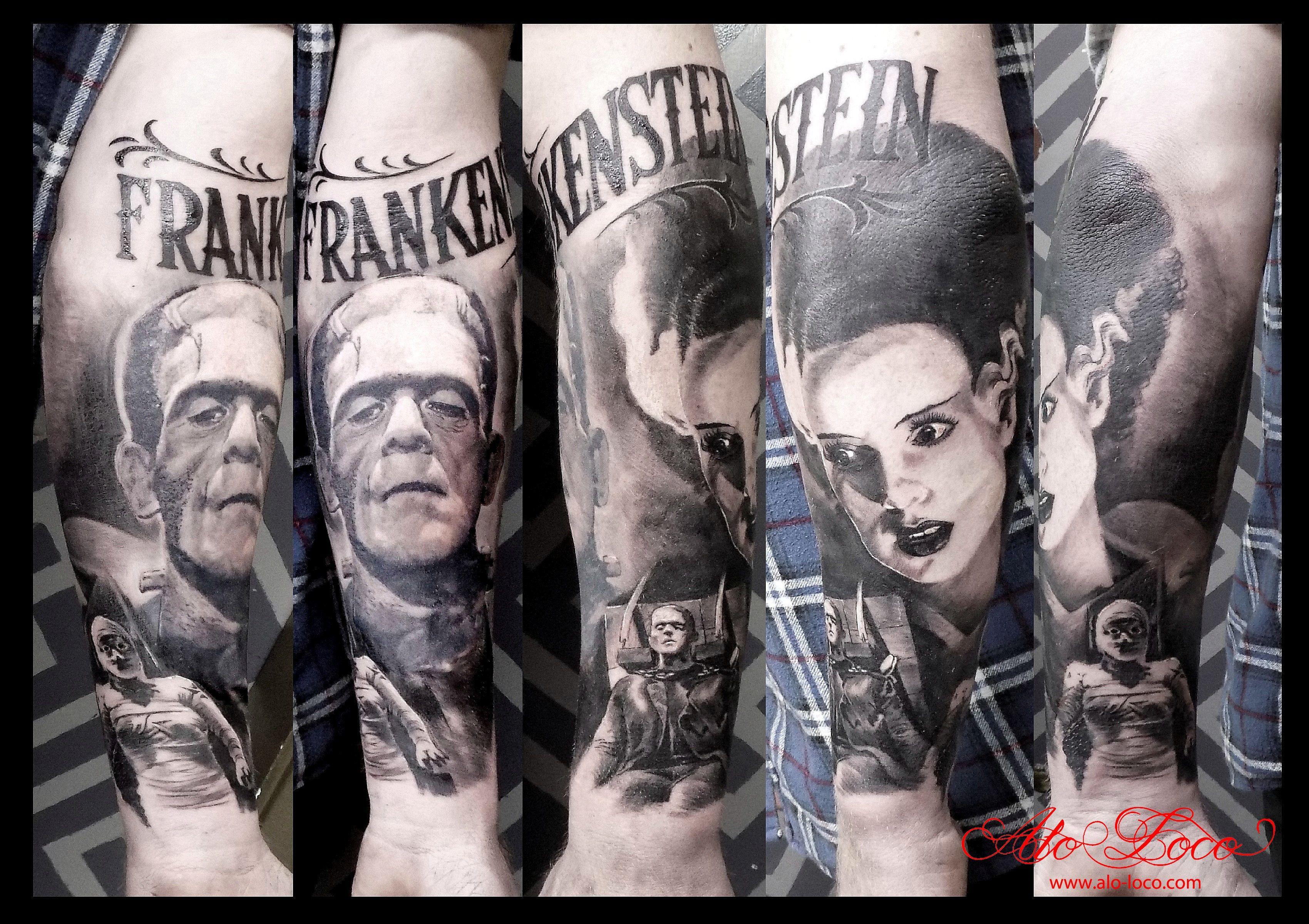Frankenstein Tattoo Sleeve Movie Frankenstein Tattoo Movie Tattoos Sleeve Tattoos