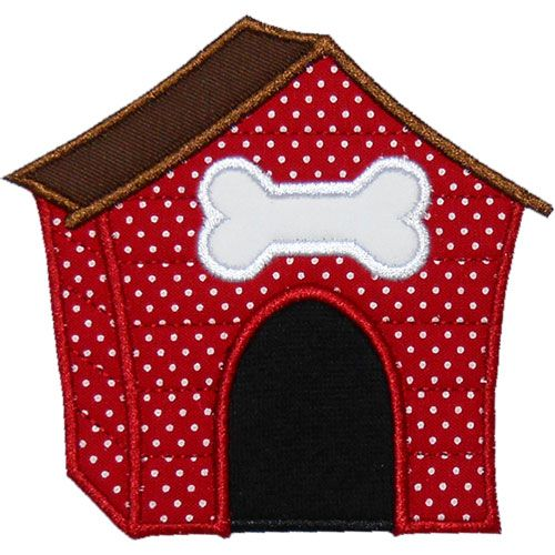 Dog House Applique Design | applique | Pinterest | Applikationen ...