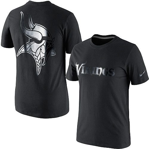 Men s Nike Minnesota Vikings Black on Black T-Shirt - ESPN Shop ... 28501ade9