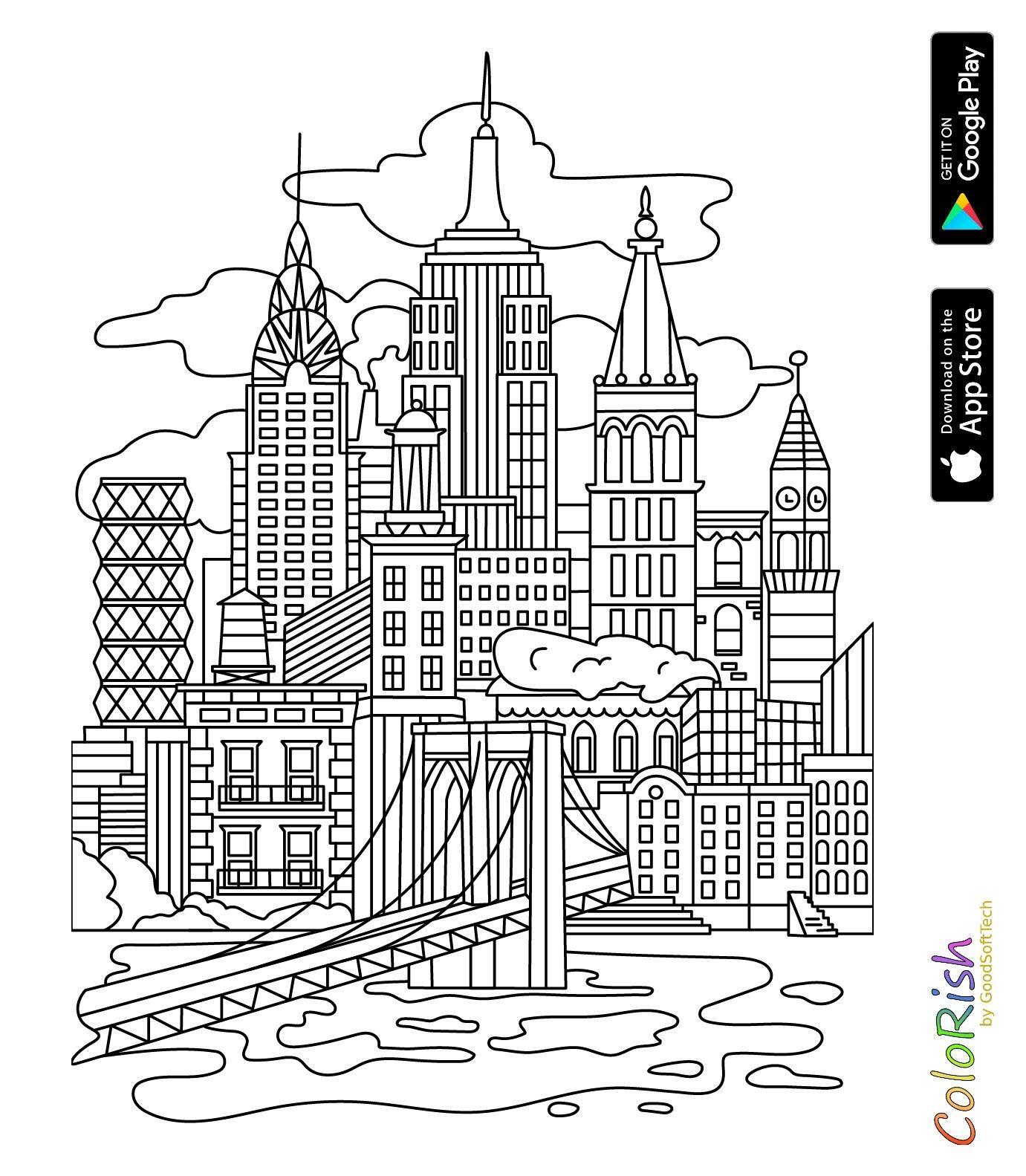 Pin Van Barbara Op Coloring Buildings City Kleurplaten Creatieve Ideeen Decoratie