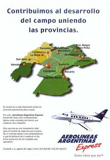 Aerolineas Argentinas Express route map