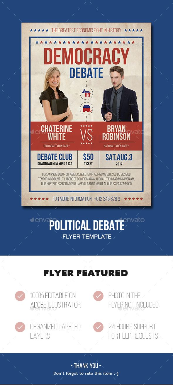 Political Flyer Template  Flyer Template Template And Ai Illustrator