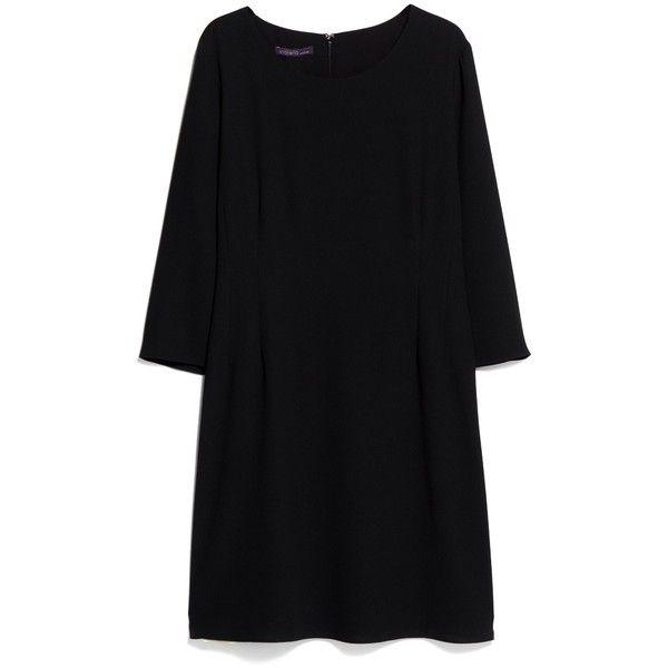 Violeta BY MANGO Minimal Dress (140120 PYG) ❤ liked on Polyvore