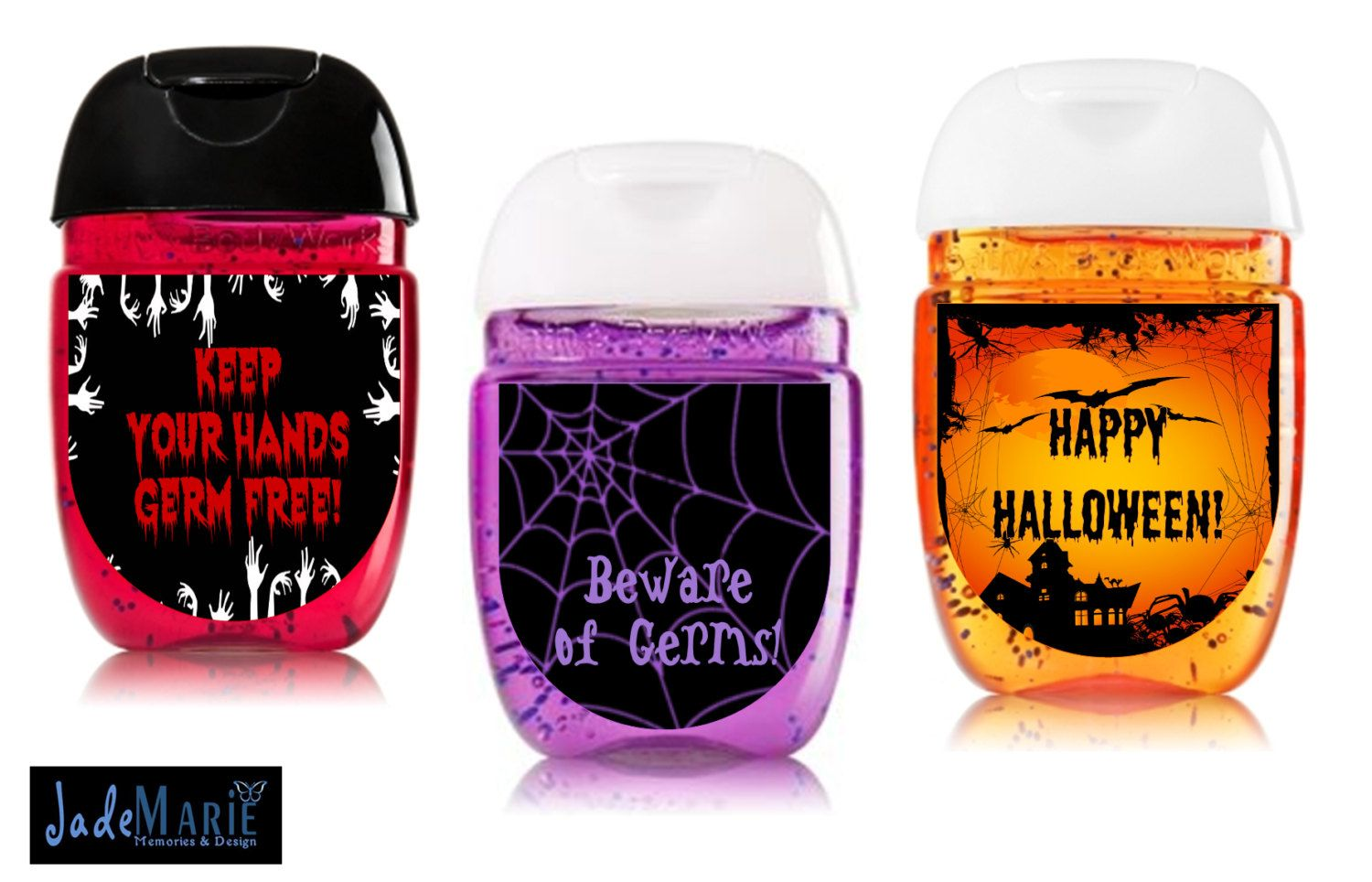 Halloween Hand Sanitizer Labels Party Favors Digital Or Peel And