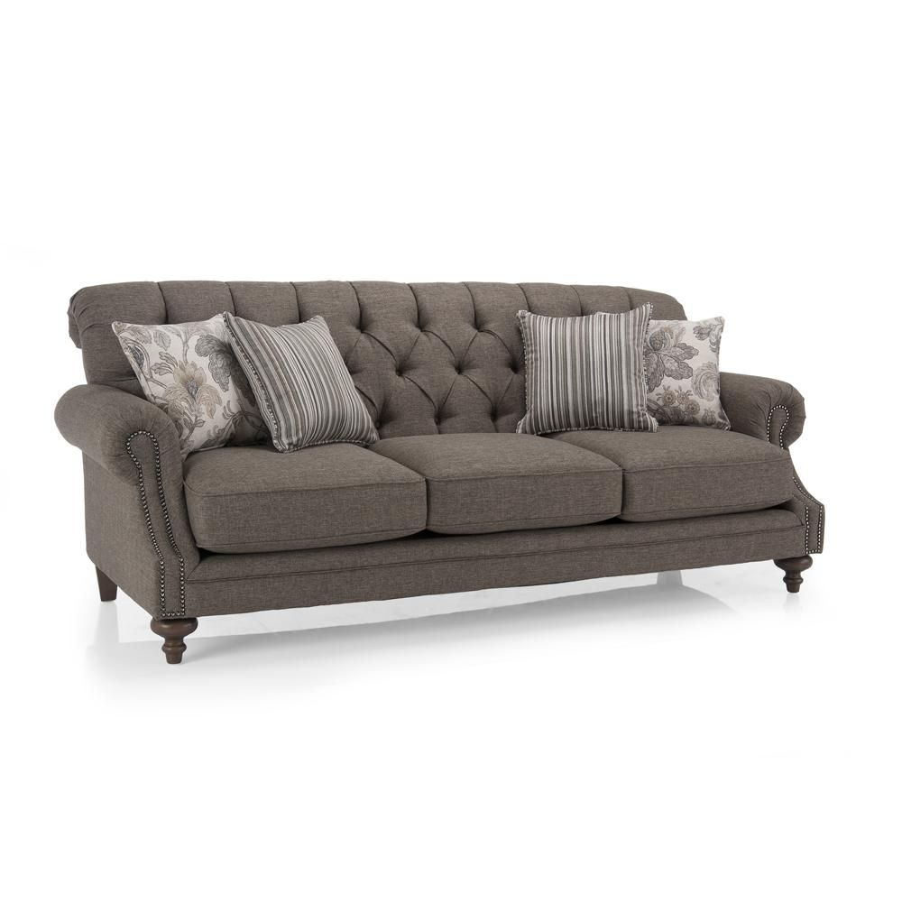 2133 Traditional Tufted Back Sofa With Nailhead Accents By Decor Rest At Gardiners  Furniture